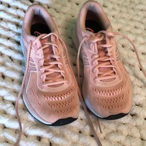 pink asics running shoes